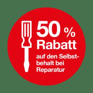 50% Rabatt auf Reparatur