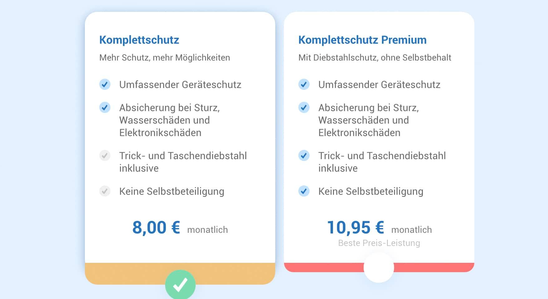 Wertgarantie AT Komplettschutz & Komplettschutz Premium
