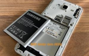 IMEI im Akku Fach bei Samsung Smartphones