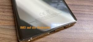 IMEI auf der Rückseite von Samsung Smartphones